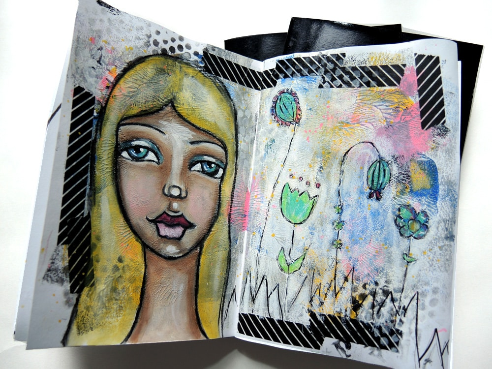 Seawhite of Brighton Art Journal | Mixed Media Art | iris-impressions.com