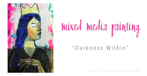Mixed-Media-Painting-Darkness-Within-Inspired-By-Egon-Schiele